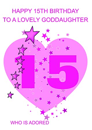 Goddaughter 15 Birthday Card Amazon Office Products