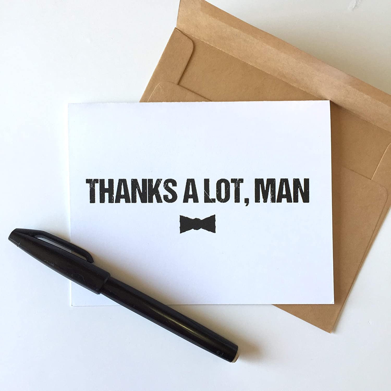 Groomsman Gift Box Best Man Gift BEST MAN CARD Best Man Thank You Card