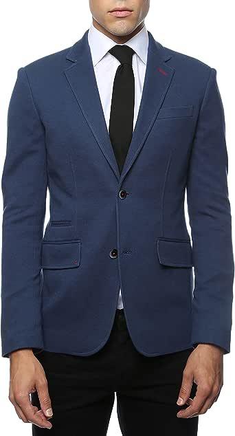 40L Zonettie Mens Daytona Navy Slim Fit Blazer