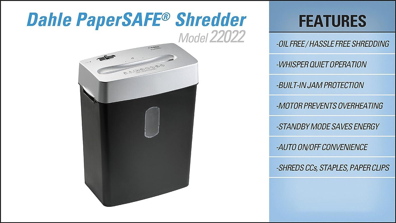 DAHLE CROSS-CUT AKTENVERNICHTER SHREDDER 22022 PAPERSAFE®