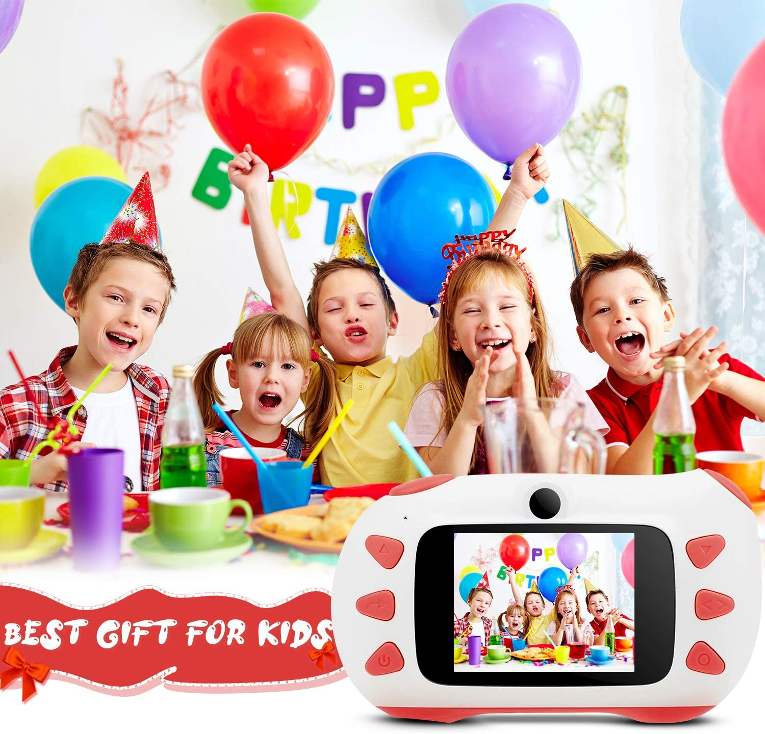Kids Camera,RUMIA Shockproof Digital Video for Boys and Girls,1080P HD Children Action Camera Portable Rechargeable Toddler Video Recorder for Birthday Day Gifts