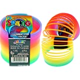 JA-RU Magic Rainbow Spring Ring Coil (1 Unit) | Slinkie Springs Party Favor Stress Relief Toy | Item #1702-1B