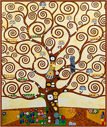 Klimts Tree of Life Detail Counted Cross Stitch Pattern