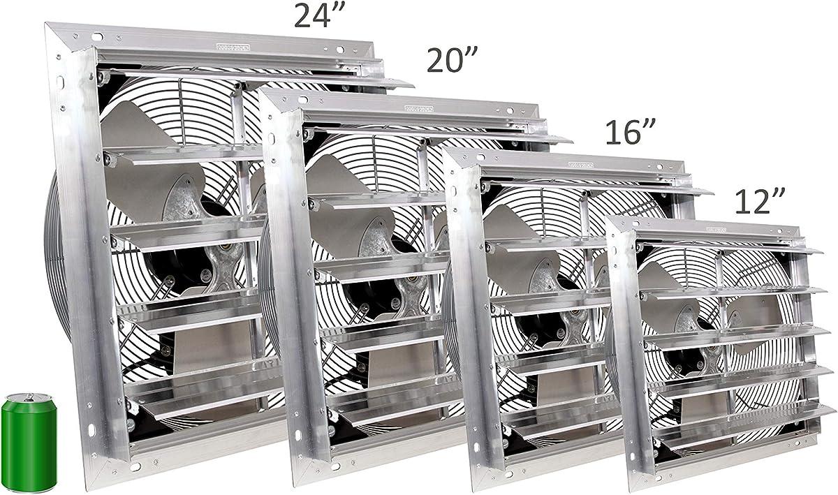 Topflight wall mounted garage exhaust fan