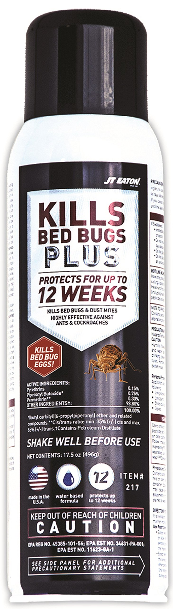 JT Eaton 217 Kills Bed Bugs Plus Aerosol Water Based Insect Spray by J T Eaton (Image #1)