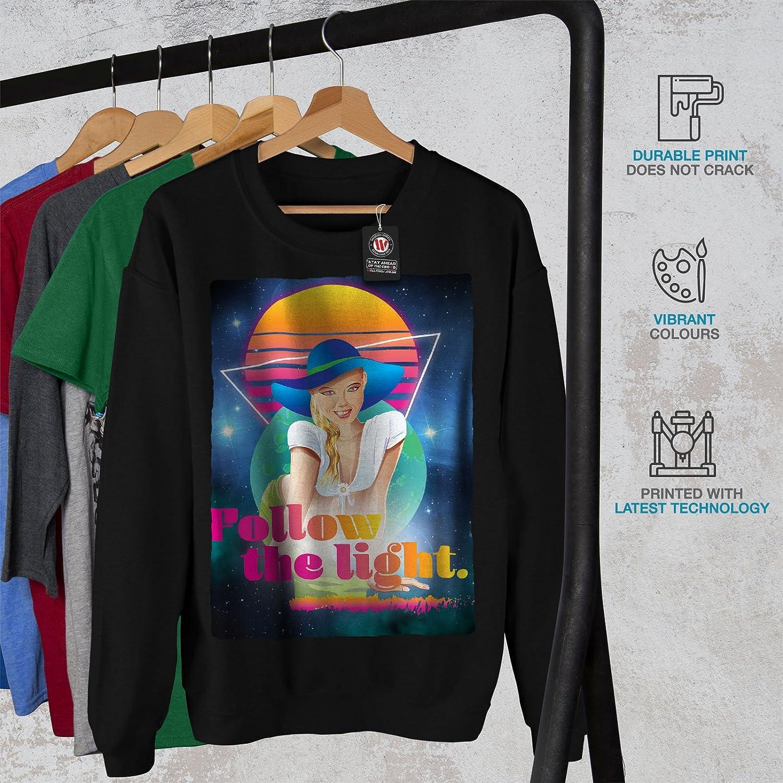 80s Casual Jumper wellcoda Girl Travel Space Fashion Mens Sweatshirt