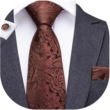 Dubulle - Juego de corbata y pañuelo de bolsillo para hombre con ...