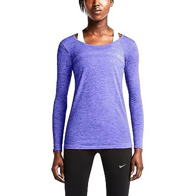 Nike Women's Dri-Fit Knit Running Top, Persian Violet/Heather (Small)
