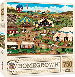 "MasterPieces Homegrown Country Fair Puzzle (750 Piece), Multicolored, 18""X24"""