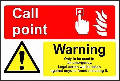 Etiqueta - Seguridad - Advertencia - Punto de llamada de ...