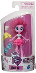 """My Little Pony Equestria Girls Fashion Squad Pinkie Pie 3"""" Mini Doll with Removable Outfit, Shoes & Accessory, for Girls 5+"""