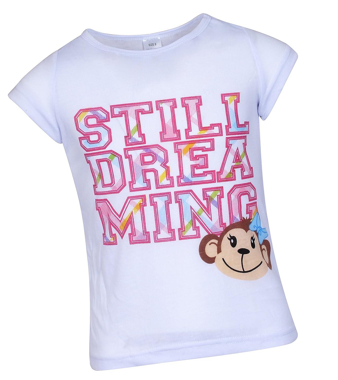 and Pants Short Sleeve T-Shirt Girls Sleepwear 3 Piece Pajama Set Sleep /& Co Shorts