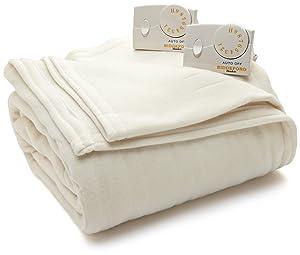 Biddeford Blankets Comfort Knit Heated Blanket, King, Natural