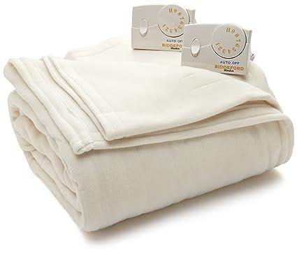 55ab38cf17 Amazon.com  Biddeford Blankets Comfort Knit Heated Blanket