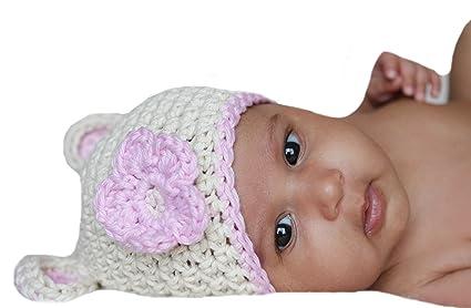Melondipity Baby Hats - Gorrito para bebé, de crochet, diseño de oso ...