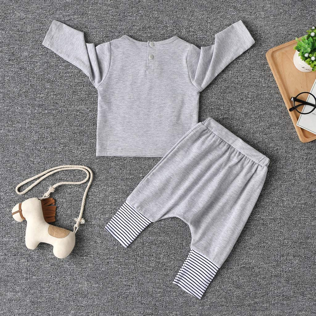 Allence Baby Bekleidungsset 2 St/ück Unisex Neugeborenes M/ädchen Jungen Warm Langarmshirt T-Shirt Top Hose Outfits Set Kleidung Set Strampler Pyjama Stirnband