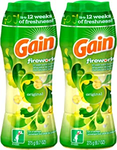 Gain Fireworks Original Scent Laundry Booster 9.7 Oz (Pack of 2)