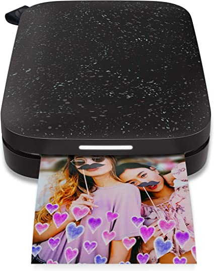HP Sprocket Portable Photo Printer (2nd Edition) – Instantly Print 2x3 Sticky-Backed Photos from Your Phone – [Cherry Tomato] [1AS90A]