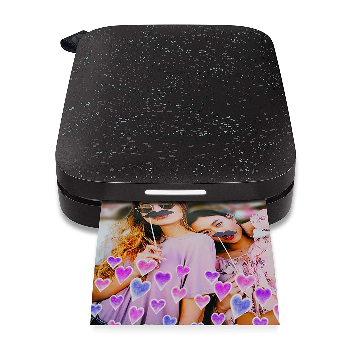 HP Sprocket Portable Photo Printer (2nd Edition) – Instantly Print 2x3 Sticky-Backed Photos from Your Phone – [Noir] [1AS86A]