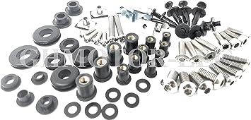 Complete Full Fairings Bolts Screws Fasteners Kit for 2003 2004 2005 2006 CBR600RR 600RR Black GHMotor