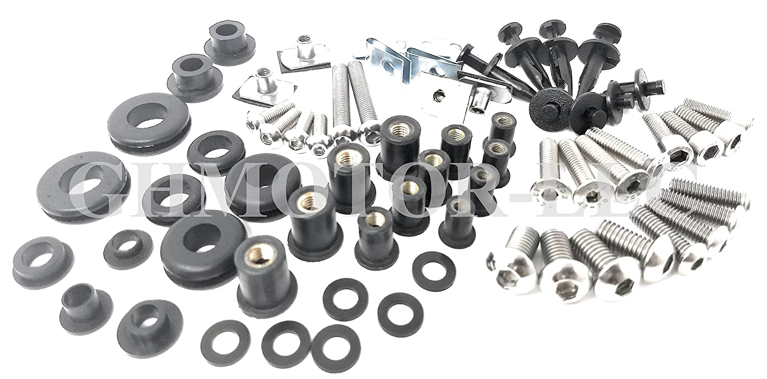 Motorcycle Fairing Bolt Kit Complete Screws Gsxr Gsx 1988 750 Slingshot Wiring Diagram R 600 2006 2007 Silver Automotive