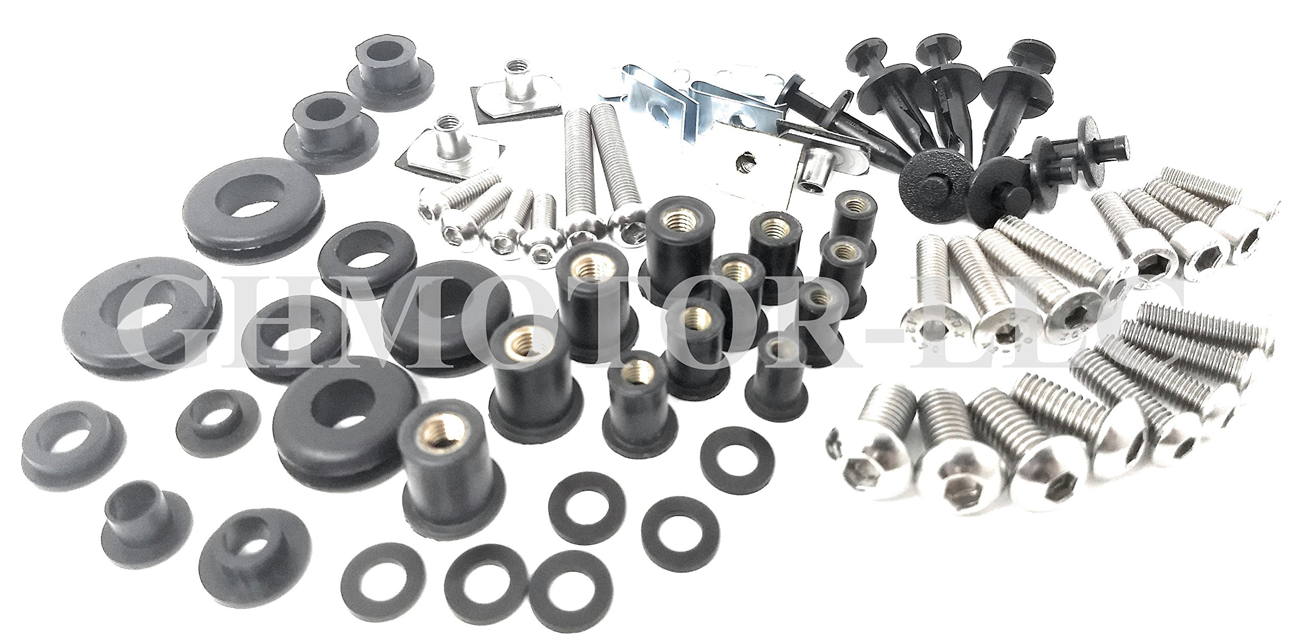 2003 2004 2005 2006 CBR 600RR Complete Fairings Bolts Screws Fasteners Kit Made In USA