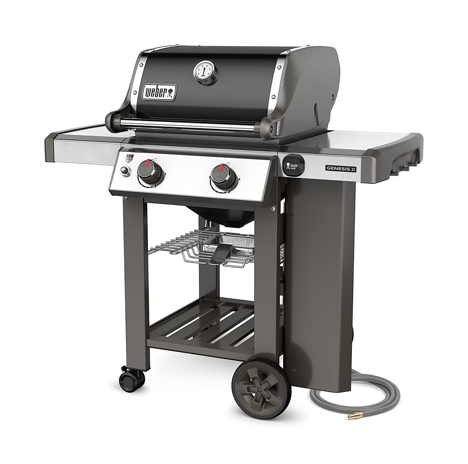 Weber-Stephen Products 65010001 Genesis II E-210 Natural Gas Grill, Black, Two-Burner