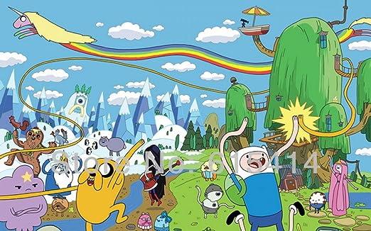 Amazon Com Anime Family 023 Adventure Time Jake Finn Hot Anime 22 X14 Poster Posters Prints