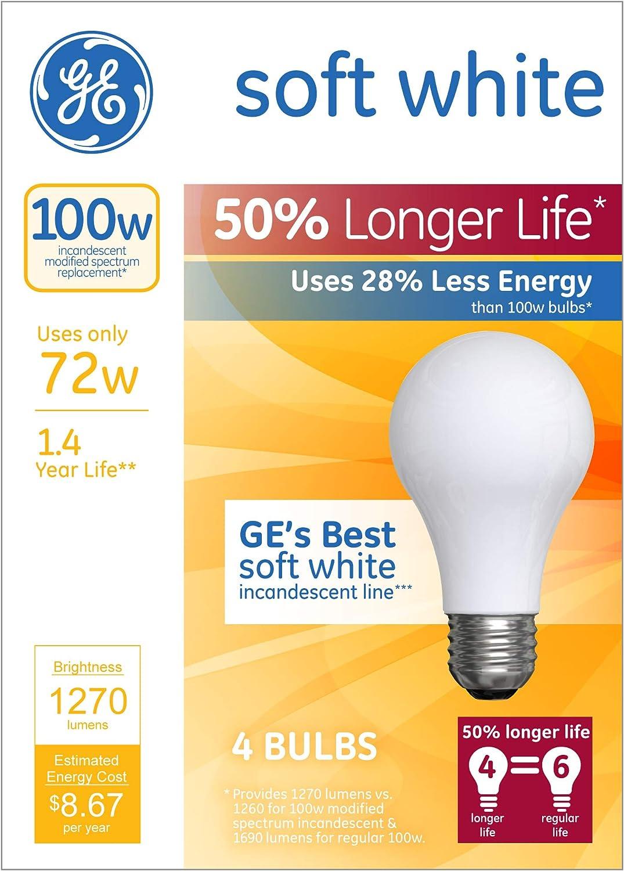 GE 4PK 72W LL Halo Bulb,No 70284 G E Lighting
