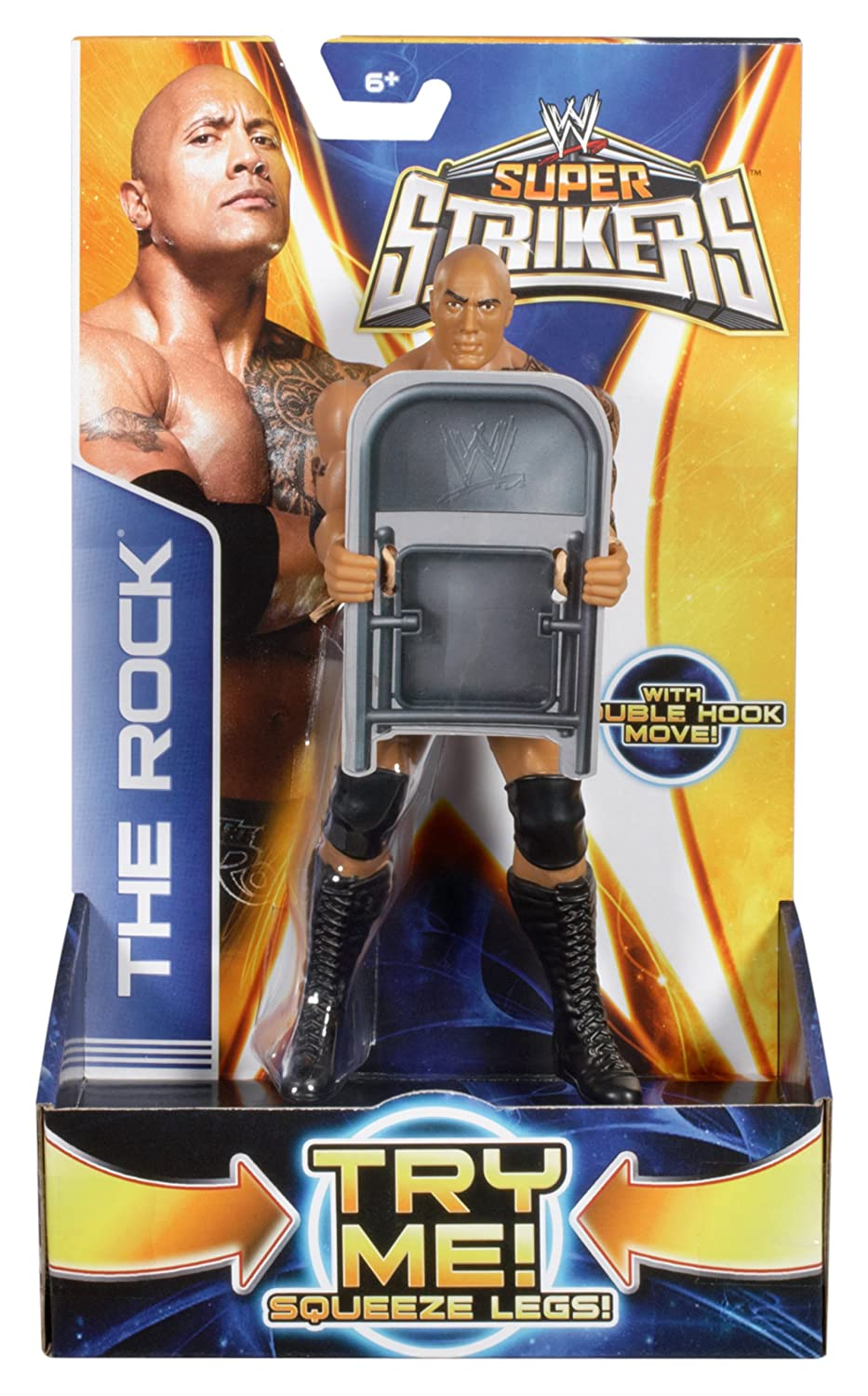 WWE Super Strikers 6 The Rock Action Figure
