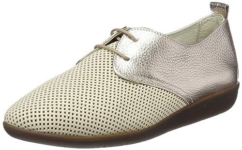 24 Horas 23538, Zapatos de Cordones Oxford para Mujer, Dorado (Champan 3), 38 EU