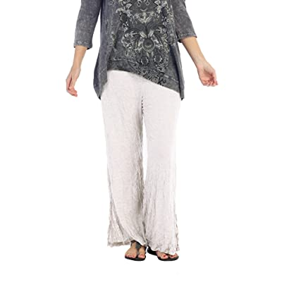Jess & Jane Women's Crinkled Ankle Pant at Women's Clothing store