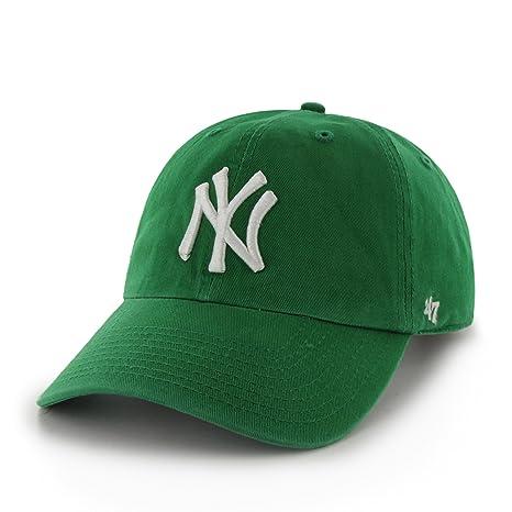4762a02608f4 Amazon.com   MLB New York Yankees  47 Brand Clean Up Adjustable Cap ...