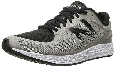 New Balance Men's Fresh Foam Zantev2 Game Running Shoe, Silver/Black, 7.5 2E