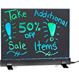 """Alpine Industries LED Flashing Eraseable Message Board with Acrylic Writing Panel and Stand (12"""" x 16"""")"""