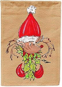 Caroline's Treasures 8502GF Christmas Reindeer Fleur de lis Flag Garden Size, Small, Multicolor