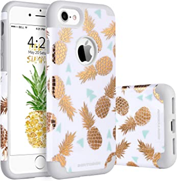 BENTOBEN Funda iPhone 7 Piña, Funda iPhone 8, Case Cover Mono ...
