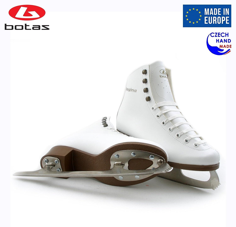 Girls Czech Republic Model: Regina//Made in Europe // Figure Ice Skates for Women Botas Kids//Nicole Blades//White Color
