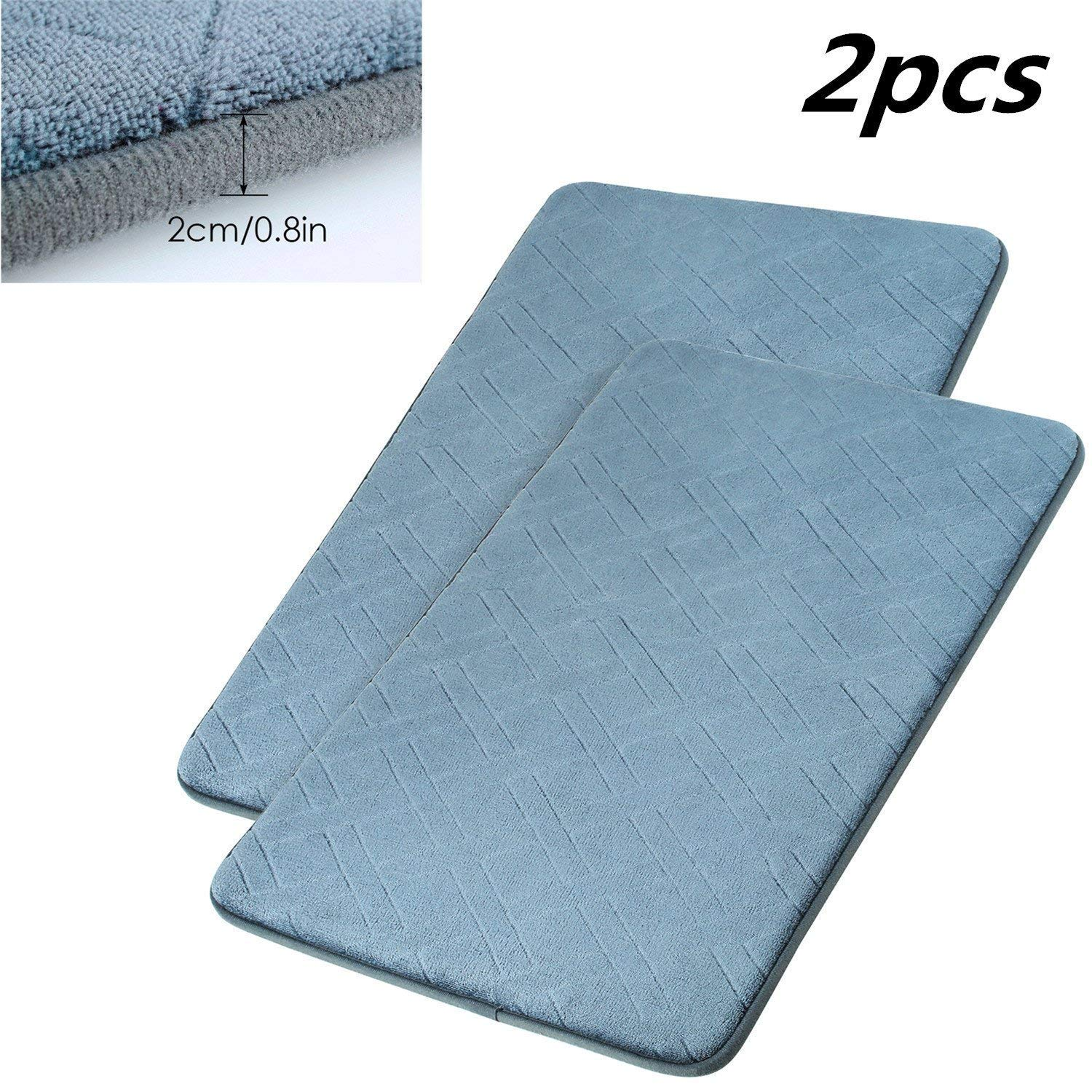 HOMFA 2pcs Bath Mat Non-slip Bathroom Rug Bathroom Mat 50x80cm Machine-washable HF