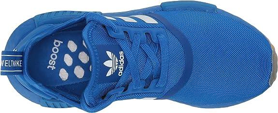 Adidas Originals Nmd R1 Sneaker Glory Blue White Gum Numeric 4 Point 5 Us Unisex Big Kid Amazon Ca Shoes Handbags