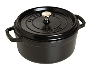 Staub Round Dutch Oven 7-quart Matte Black