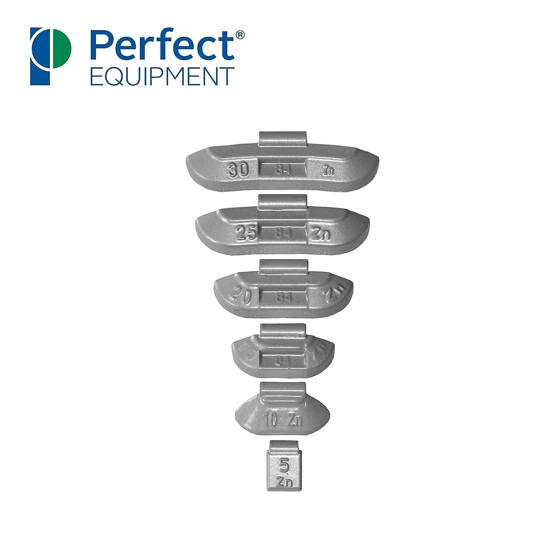 600x poids de frappe zinc pour jantes en acier Assortiment masses d/équilibrage roues 5-30g Type 84 Perfect Equipment