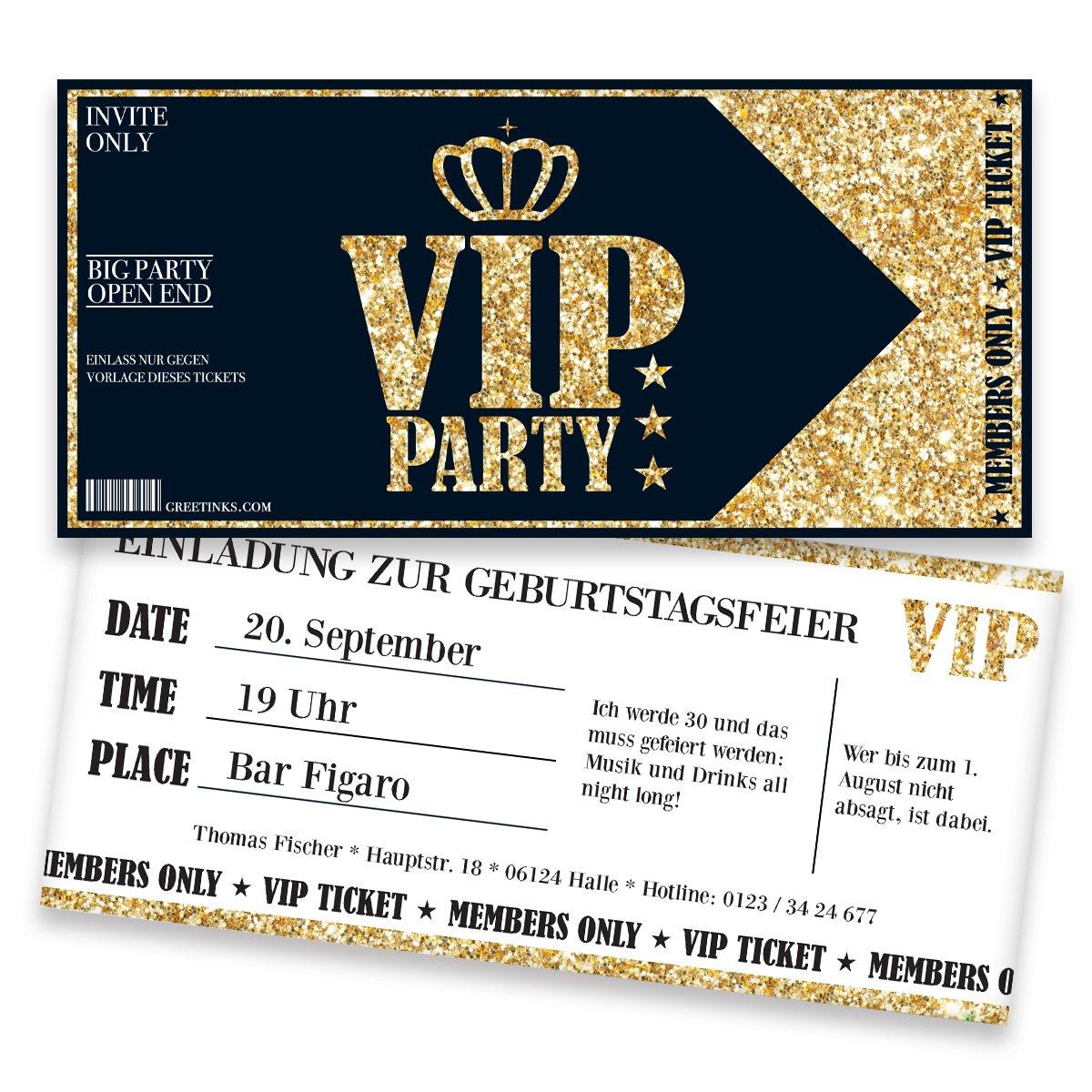Kindergeburtstag Karte Einladung Individuelle Einladungen Druck Ihrer Texte 40 St/ück Einladungskarte Jungen M/ädchen Jugendweihe Inkl Einladungskarten zum Geburtstag f/ür VIP