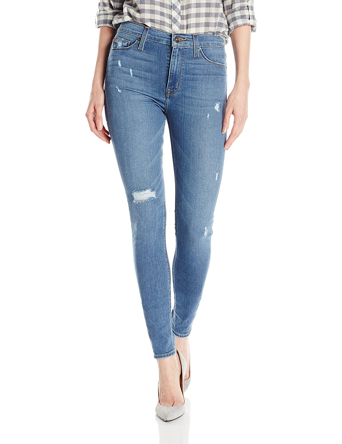 Hudson Jeans Womens Barbara High Rise Super Skinny Jean