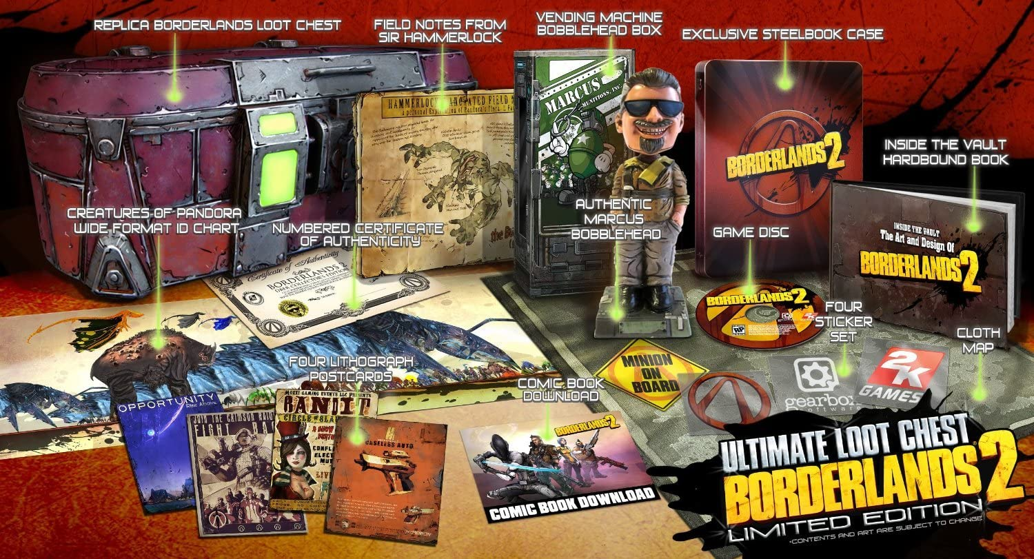 Borderlands 2 Ultimate Loot Chest Limited Edition Xbox 360 ...