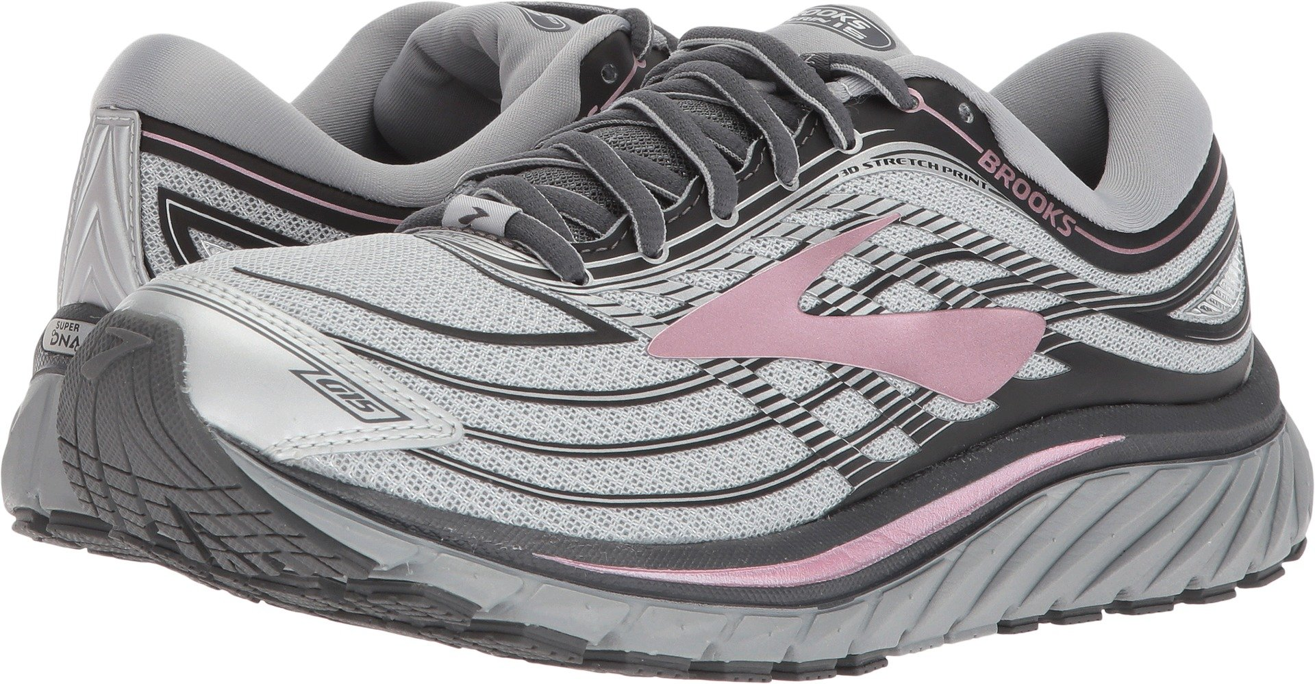 Brooks Women's Glycerin¿ 15 Silver/Grey/Rose 5.5 B US