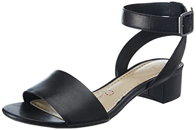 f6163b05e Clarks Women s Black Leather Fashion Sandals - 5 UK India (38 EU ...