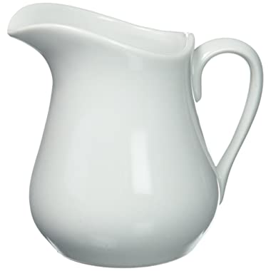 HIC Creamer Pitcher with Handle, Fine White Porcelain, 8-Ounces