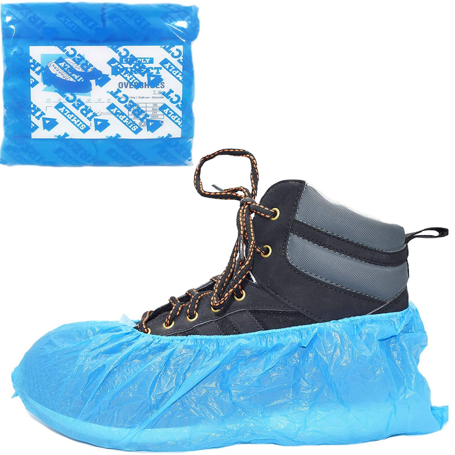Practical 100pcs Disposable Plastic Shoes Covers Rainy Day Carpet Floor Protector Thick Cleaning Shoes Cover Blue Waterproof Overshoes#2 Customers First Shoe Accessories Shoes Covers