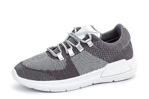 La Push - Zapatillas Deportivas de Mujer Plateadas – Tallas 36 a 41 (41 EU